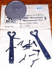 Pintle Hinge Door Spanish Colonial Pair 1:12 Miniature #E100 Antique Tin Finish