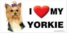 "I (Heart) Love my Yorkie Large Dog Car Fridge Magnet 4""x8"" New Usa Waterproof"
