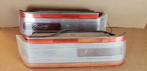 1989-1993 Cadillac Allante Taillight Set LH RH Pair Tail Lamps OEM