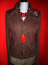 ONLY JEANSJACKE JACKE BIKER RoCKaBILLY HIPPIE PATCHES FRANSEN S 36 NEUW.! TOP!!!