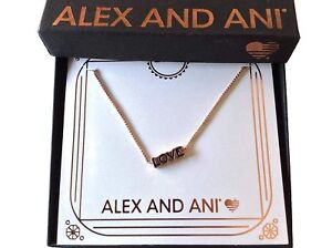 Alex and Ani Love Necklace Rose Gold New Tag Box Card 2019