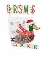 Christmas Quacker Duck Christmas Card 3D Cutting Edge Greeting Cards