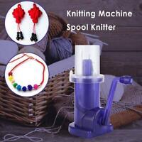 DIY Hand-operated Embellish-Knit Knitting Machine Spool Knitter Weave Tool #JT1