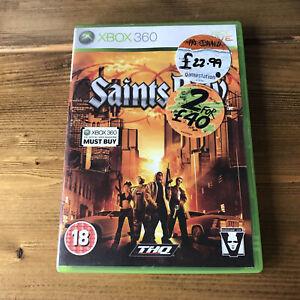 Saints Row (Microsoft Xbox 360, 2006) Complete with Manual