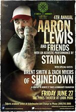 AARON LEWIS /STAIND/BRENT SMITH/SHINEDOWN 2014 MASSACHUSETTS CONCERT TOUR POSTER