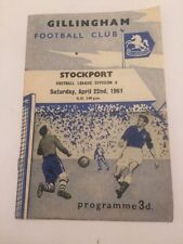 Fourth Division Gillingham Teams F-K Football Programmes