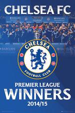 Chelsea FC 2015 EPL Premier League Winners CHAMPIONS CELEBRATION POSTER