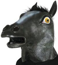 Maschera cavallo nero in gomma