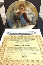 Knowles First Issue Collector's Annie and Sandy Plate Coa & Box