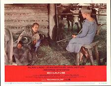 SHANE original lobby card ALAN LADD/BRANDON DE WILDE 11x14 Movie Poster