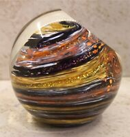Glass Eye Studio JUPITER Celestial Series Paperweight Signed GES 2000 No Box