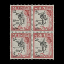 Aden 1956 (MNH) 2s Protectorate Levy block, black & carmine-red