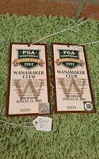 Ticket from the 2002 Golf PGA held at Hazeltine - Wanamaker Club 8/15/02