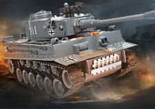 1:20 RC Tank US German Tiger 101 Large Can Launch Bullet Military Truck Toys
