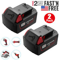 2 PACK For Milwaukee M18 Lithium Ion 18V Battery XC 4.0AH 48-11-1840 48-11-1860