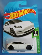 Hot Wheels - Tesla Model 3 White Color - HW Green Speed #1/5