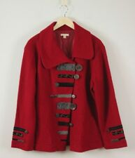Carson Art to Wear Lined Boiled Wool Red Jacket XL
