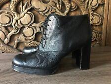 JAZZ Brand Vintage 90's Platform High Heel Ankle Booties Boots Size 9 Nordstrom