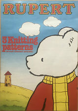 KNITTING PATTERN Rupert the Bear 3 Jumper Designs Intarsia Kennedy Adults Child