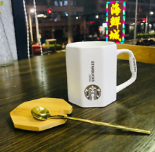 2020New China Starbucks Coffee Mug with wood lid&Gold spoon Gift Limited Edition