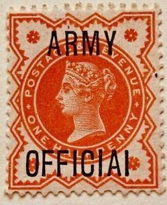 SGO41a 1896 ½d. Vermilion ARMY OFFICIAL. MNH Cat:£300