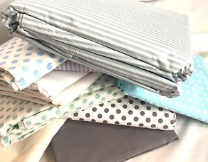 LoomLands , 250cm Extra Wide 100% Cotton Fabric Plain stripe polka dot vectoria
