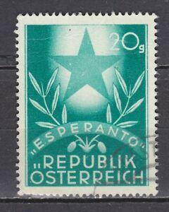 AUSTRIA used 1949 SC# Nr 563 Austrian Esperanto Congress - Graz
