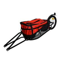 Remorque Pour Vélo Optimiz+ Mono roue avec sac Noir/Rouge