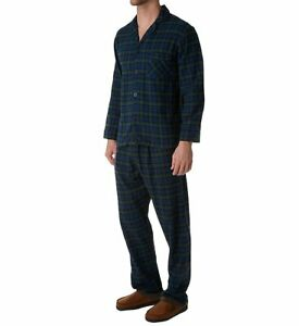 Hanes Big and Tall Flannel Plaid Pajama (Green 5X)