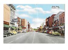 VTG Postcard Looking North on Noble St Anniston Alabama