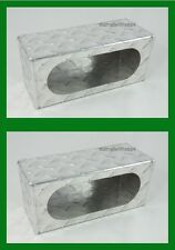 "Aluminum Diamond  Light Box Guard Trailer Single 6"" Oval Incandescent LED 1 Pair"