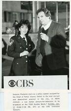SUZANNE PLESHETTE AS POLICEWOMAN DANNY AIELLO NEON JUNGLE ORIG 1987 CBS TV PHOTO
