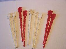 Lot of 9 Vintage Seagrams 7 Drink Stirrers COCKTAILS Barware Swizzle Sticks