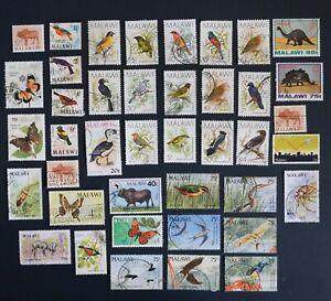 Vintage 1988 MALAWI Birds Postage Stamps Set - Africa Dinosaurs Bundle - 688
