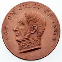 1897 Peru General San Martin Bronze Medal AU Condition