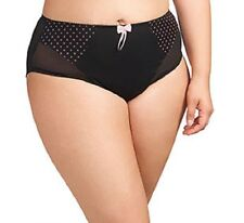 NWT$30  Elomi Betty Brief Panty Size Medium to 4XL  in Black Style 8176