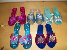 5 Pairs Dress Up Shoes – Little Girl's Princess Play Plastic Slippers Ages 3 &up