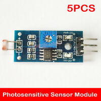 5PCS Photosensitive Sensor Module Digital Light Detection Resistor 3 Pins
