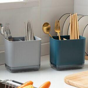 Storage Holder Cutlery Shelf Chopstick Drain Box Kitchen Organizer Rack