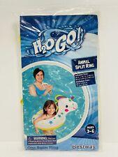 New listing Bestway H2O GO Inflatable Unicorn Animal Split Swim Ring Float Age 3-6