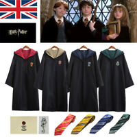 Harry Potter Gryffindor Slytherin Cape Cloak Tie Cosplay Party Costume COS UK---