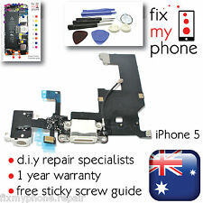 iPhone 5 White Lightning Jack Flex Dock Connector Charging Port Microphone Tools