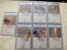 MARVEL COMICS 2006 CIVIL WAR #1-7 COMPLETE SET ALL CGC CERTIFIED 9.2-9.8