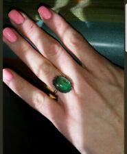 Slightly Adjustable Flower Motif Ring 10mm Black Enamel Mood Ring #A4J9