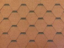 Dachschindeln Hexagonal Dreieck Form 6 m? Braun (2 Pakete) Schindeln Dachpappe