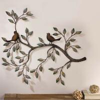 Tree of Life Bird Wall Hanging Ornament  Metal Wall Art Sculpture Home Decor