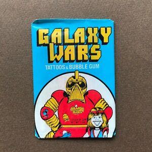 1973 Galaxy Wars Pack tattoo + Bubble Gum Donruss