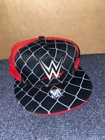 WWE Snapback Hat Black Flat-Bill Wrestling Grey Red Official NEW New With Tags