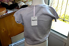 cardigan  neuf repetto cache coeur 6 ans  SOprano gris perle 50% SOIE 5%cashemir