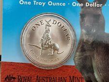 1996 1oz Silver Kangaroo coin Australian Perth Mint